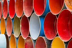 Front view of colorful oil tank. Stock Photo