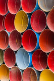 Front view of colorful oil tank. Royalty Free Stock Image