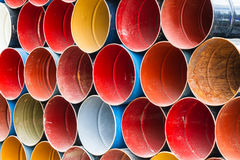 Front view of colorful oil tank . Stock Image