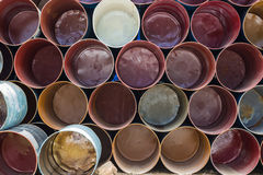 Front view of colorful oil tank background. Stock Photography