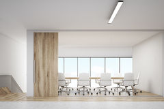 Front view of conference room with wooden door Royalty Free Stock Photography