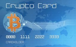 Crypto currency concept Stock Photography