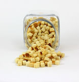 Front View Croutons Royalty Free Stock Image