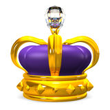 Front View Of Crown With Big Diamond Stock Photography