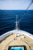 Front view of cruise deck Royalty Free Stock Photography