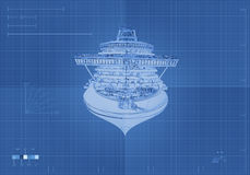 Front View Cruise Ship Royalty Free Stock Photography