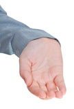 Front view of cupped palm hand gesture Stock Photos