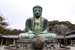 Front view of Daibutsu giant statue in sitting position Royalty Free Stock Photos