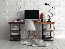 Front View de table de travail architecturale personnalisée illustration stock