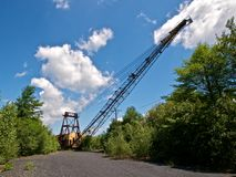 Front View of Derelict Mining Crane Stock Photo