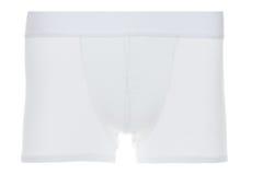 Front View des sous-vêtements blancs de dossier de boxeur Photographie stock libre de droits