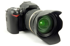 Front view of  digital photocamera Royalty Free Stock Photos