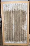 Front View Of A Dirty Furnace Filter Royalty Free Stock Photo