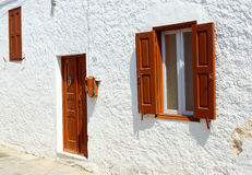 Front view of door and windows Stock Photos