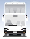 Front view of Double deck  touring bus Royalty Free Stock Photos