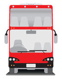 Front view of Double deck  touring bus Stock Images