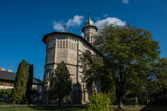 Front view of Dragomirna monastery. In Bukovina, (Bucovina), Moldavia (Moldova Royalty Free Stock Photo