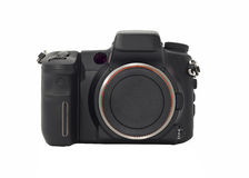 Front view of Dslr camera body isolated Stock Image