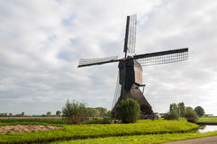 Front view Dutch windmill in autumn Royalty Free Stock Photography