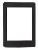 Front view of e-book reader with cut out screen Stock Photography