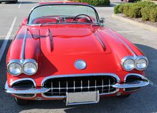 Corvette Antique Red Royalty Free Stock Image