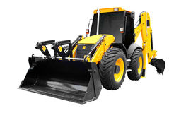 Front view of earth-moving machine isolated Royalty Free Stock Images