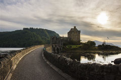 Front view of Eilean Donan castle.  Royalty Free Stock Photography
