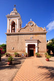 Front view of El Quelite Church in Mexico Royalty Free Stock Photo