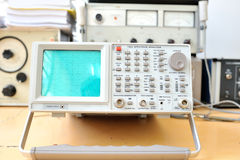 Front view of electronic oscilloscope Royalty Free Stock Image