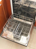 Front view of empty dishwasher Stock Photography