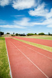 Front view of empty running track Stock Images