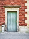 Front view of the entrance door Royalty Free Stock Photography