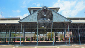 Front view of the entrance to the Old Central Market  of Guayaquil city on the Malecon 2000. Guayaquil, Guayas / Ecuador - September 4 2016: Front view of the Stock Images