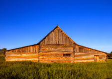 Front view of the famous T.A. Moulton Barn in Grand Teton National Park, US. This is one of the most photographed barns in the US.  Royalty Free Stock Photos