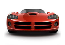 Front view of a fast sports ca royalty free illustration