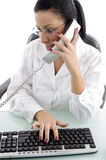 Front view of female doctor doing work Stock Photography