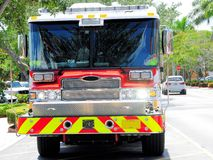 Front view of fire engine, Florida Stock Photography