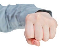 Front view of fist - hand gesture Stock Photos