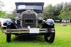 Front view of 1928 Ford horseless carriage Royalty Free Stock Images