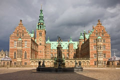 Front view of Frederiksborg castl Stock Images