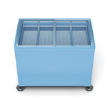 Front view freezer chest  on white background. 3d render Royalty Free Stock Images