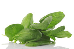 Front view of fresh spinach, vegetarian food stock photography