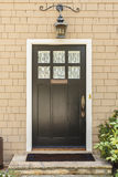 Front view of front brown door Stock Image