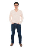 Front view full body Asian man Stock Photo