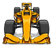 Front view funny fast cartoon formula race car illustration art Royalty Free Stock Images