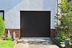 Garage with electric door Stock Photo
