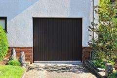 Garage with electric door Stock Photo