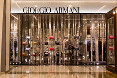 Front view of Giorgio Armani store in Siam Paragon Mall, Bangkok Royalty Free Stock Photos