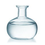 Front view of glass bottle royalty free stock image