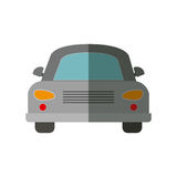 Front view gray automobile icon Stock Photography